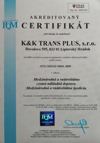 ISO 18001 SK